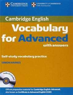 Cambridge english objective first workbook with answers annette cambridge vocabulary for advanced with answers and audio cd cambridge english amazon fandeluxe Choice Image