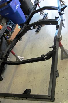 1955 willys pickup (l6-226, 4wd) > powdercoated frame