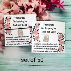 Custom Wedding Favours, Wedding Party Favors, Wedding Wishes, Personalized Wedding, Wedding Cards, String Bracelets, Wish Bracelets, Stackable Bracelets, Charm Bracelets