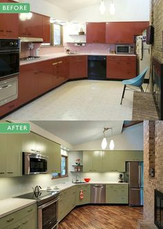 Custom Green 1964 St. Charles Kitchen | Kitchen Retro, Retro Renovation And  Kitchens For Sale