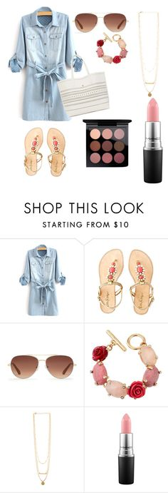 """Really nice summer beach day outfit"" by olivia-weissman on Polyvore featuring Lilly Pulitzer, Stella & Dot, Oscar de la Renta and MAC Cosmetics"