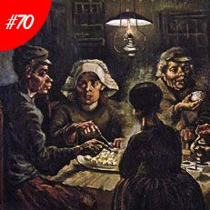 TOP 100  MASTERPIECES: FAMOUS PAINTINGS | Famous Art: Vincent Van Gogh - The Potato Eaters Oil Painting Reproduction | www.bocadolobo.com #greatartists #artists #luxury #luxuryfurniture #exclusivedesign #designideas