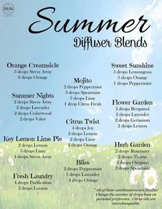 It is July and officially summertime! Here are some great recipes and mixes to try in your Diffuser! Let Young Living Essential Oils help set the mood for a fabulous summer! Essential Oil Diffuser Blends, Essential Oil Uses, Doterra Essential Oils, Natural Essential Oils, Doterra Diffuser, Clary Sage Essential Oil, Yl Oils, Lemongrass Essential Oil, Young Living Oils