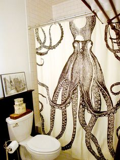 octopus showercurtain