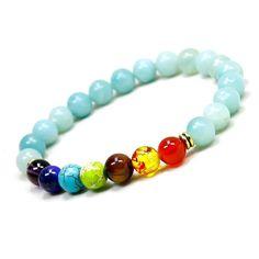 7 Chakra Healing Balance Beads Bracelet Muti-color Stones