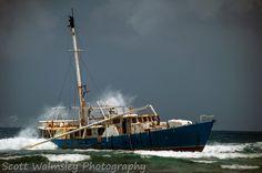 Wrecked boat on the San Blas Islands, Panama