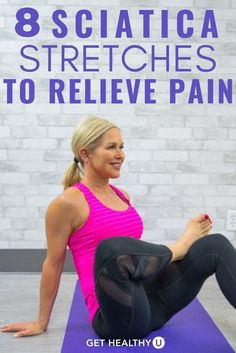 Sciatica is pain tingling or numbness that comes from the irritation of the sciatic nerve usually occurring on only one side of the body. Yoga For Sciatica, Sciatica Stretches, Sciatica Pain Relief, Sciatic Pain, Sciatic Nerve Damage, Sciatic Nerve Exercises, Back Pain Exercises, Yoga Exercises, Morning Exercises