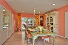 This is my dream dining room. The only thing that's missing is a fancy chandy.