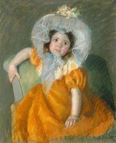 Women Painters - Mary Cassatt (American, 1844 – 1926): Margot in...