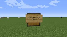 Passthrough Signs is a mod that's incredibly simple but, at the same time, it somehow manages to have a drastic impact on how the game is placed. Minecraft mods are definitely a thing of wonder because even the simplest of mods can end up having an enormous impact on the game and the Passthrough Signs is a clear example of this scenario. [  295 more words ]  http://minecraftsix.com/passthrough-signs-mod/ #minecraft #pcgames