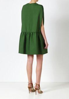 valentino Abito cappa in crepe couture verde Verde