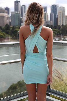 Tiffany Blue Dress? Don't mind if I do (:< love the back!!!