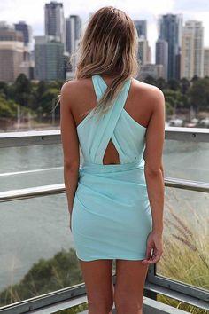 Tiffany Blue Dress? Don't mind if I do (:< love the back!!!