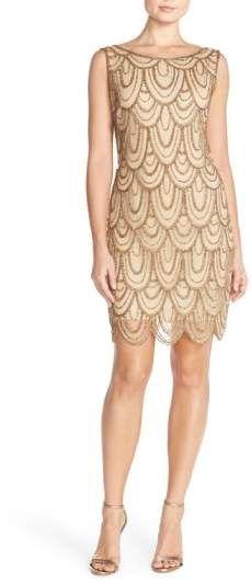 Pisarro Nights Embellished Mesh Sheath Dress at #nordstrom #nordstromweddings #ad