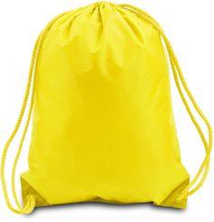 "14"" Boston Drawstring Backpack - Bright Yellow"