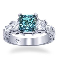 My dream center stone is a Sophia Fiori blue diamond. So put this center stone in the engagement ring picture and you have my dream ring