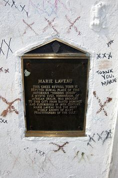 St. Louis Cemetery #1 Marie Laveau's tomb