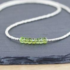 Peridot Miyuki Seed Bead & Sterling Silver by EllaArtisanJewellery