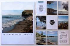 inspiration storyboard: Project Life - Beach pages. Simple pages keeps the focus on the beautiful pics of the beach.