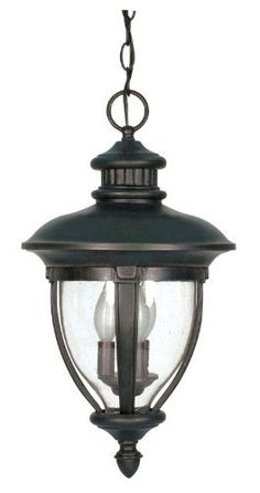 Nuvo 60/958 Hanging Lantern with Clear Seed Glass, Old Penny Bronze by Nuvo. $69.90. Old penny bronze hanging lantern with clear seed glass. (3) 40-Watt type B candelabra base bulbs not included.
