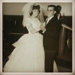 Mes parents, il y a 50 ans. Célébration de leurs noces d'or ce soir. #amour #couple #mariage #anniversaire #vie