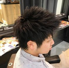Latest 56 Terrific Haircuts & Hairstyles for Japanese Men 2017 Bold Haircuts, Hairstyles Haircuts, Cool Hairstyles, Japanese Men Hairstyle, Stylish Hair, Hair Cuts, Long Hair Styles, Spikes, Men's Style
