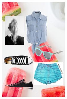 """""""Summer 2015"""" by justafangirl4ever ❤ liked on Polyvore featuring Converse and Vans"""