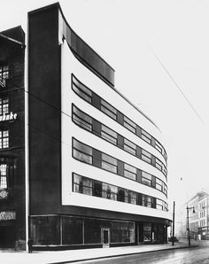 Transformation of three commercial buildings (1927-28) in Berlin, Germany, by Hans + Wassili Luckhardt with Alfons Anker