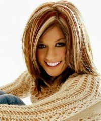 dark hair with red low lights and blonde high lights | ... Hair Talk > Hair Color > Multidimensional chunky highlights > Page 1