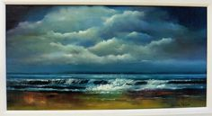 Seascapes - Donna McGee Fine Art - www. Waves, Peace, Clouds, Sky, Fine Art, Board, Painting, Outdoor, Heaven