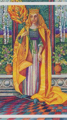La reine de bâtons - Queen of Wands - Tarot cristal par Elisabetta Trevisan