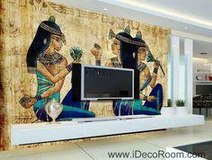 Egypt ancient egyptians IDCWP-EG-06 Wallpaper Wall Decals Wall Art Print Mural Home Decor Gift