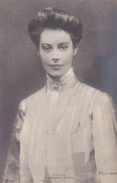 crown princess cecilie of prussia - Google Search