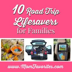 Top 10 Tips for Road Trips with Kids - the gear, the snacks and the games you'll need! #roadtrip #summer #arewethereyet