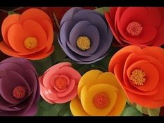 Robert's Giant Paper Flowers - YouTube