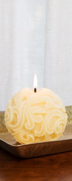Toxin, soot, and allergen-free, these American-made candles' soft glow is purifying, too. Burning releases negative ions that help clean the air.