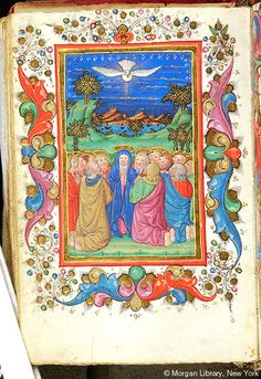 Pentecost   Book of Hours   Italy, possibly the Veneto   ca. 1425-1450   The Morgan Library & Museum