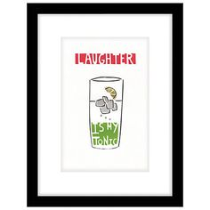 Buy Cartwheels and Conkers - Tonic Framed Print, 43 x 33cm Online at johnlewis.com