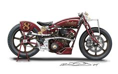 roland sands design INDIAN | 2015 Indian Scout Track by Roland Sands Design first photos - YouTube