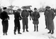Michael Wittmann and Jochen Peiper. Peiper wrote a letter of condolence to Wittmann's widow, it was a personal letter from someone who liked and respected Michael and as such it is not available in...