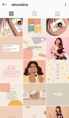 Instagram Feed Planner, Instagram Feed Layout, Feeds Instagram, Instagram Grid, Story Instagram, Instagram Story Template, Instagram Design, Social Media Template, Social Media Design