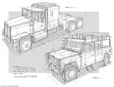 How to draw a truck or a heavy car - with perspective - Drawing Reference