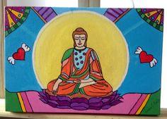 Buda colorido - acrílico em tela