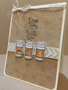 Items Similar To Love You A Latte Birthday Card On Etsy