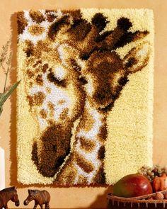 Knooppakket Wandtapijt Giraffe met jong