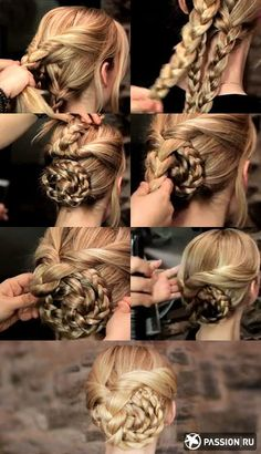 Hairstyles for Christmas. | Peinados para Navidad. #Beauty #Hair #style #Belleza #cabello #estilo  http://www.pinterest.com/cosafresca