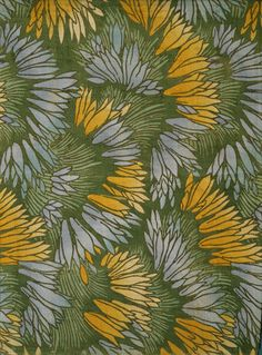 Crocus, designed by George Haité (1885-1924), printed by G.P. & J. Baker. Printed cotton and linen fancy cloth. England, 1903.