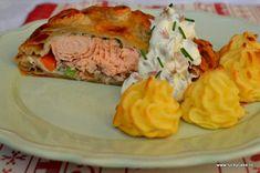 cartofi duchess Lucky Cake, Spanakopita, Salmon Burgers, Panna Cotta, Sandwiches, Paste, Ethnic Recipes, Dulce De Leche, Paninis