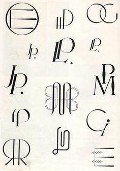Art Deco monogram