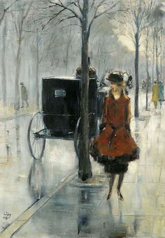 """lesser ury street scene with woman berlin 1918 sotheby (from <a href=""""http://www.oldpainters.org/picture.php?/29052/category/12811""""></a>)"""